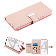 Xtra Series Essential Leather Wallet Stand Case for Google Pixel 4 - Rose Gold