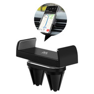 Swivel Car Air Vent Phone Mount Holder with Double Clips - Black