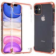 TUFF Klarity Lux Transparent TPU Case for iPhone 11 - Rose Gold Clear