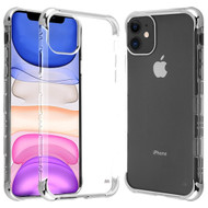 TUFF Klarity Lux Transparent TPU Case for iPhone 11 - Silver Clear