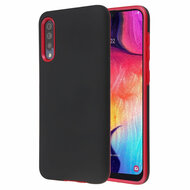Fuse Slim Armor Hybrid Case for Samsung Galaxy A50 - Black Red