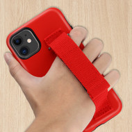 Fuse Slim Armor Hybrid Case with Integrated Hand Strap for iPhone 11 - Red