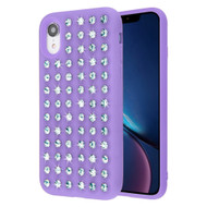 Dazzling Diamond TPU Case for iPhone XR - Purple