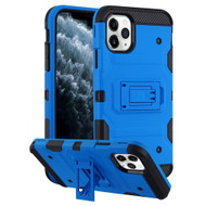 Military Grade Certified Storm Tank Hybrid Armor Case with Stand for iPhone 11 Pro - Blue