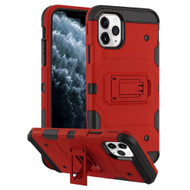 Military Grade Certified Storm Tank Hybrid Armor Case with Stand for iPhone 11 Pro - Red