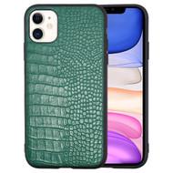 Executive Slim Shield Fusion Case for iPhone 11 - Crocodile Green