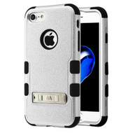 Military Grade Certified TUFF Hybrid Armor Case with Stand for iPhone 8 / 7 - Silver