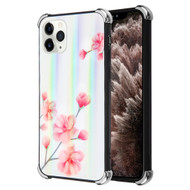 *Sale* Scratch Resistant Tempered Glass Air Cushion TPU Fusion Case for iPhone 11 Pro Max - Spring Flowers