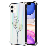 *Sale* Scratch Resistant Tempered Glass Air Cushion TPU Fusion Case for iPhone 11 - Magnolia Flowers