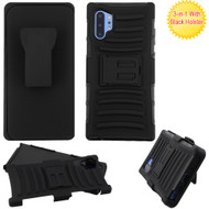 Advanced Armor Hybrid Kickstand Case with Holster Belt Clip for Samsung Galaxy Note 10 Plus - Black 201