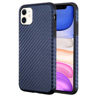 Executive Slim Shield Fusion Case for iPhone 11 - Carbon Fiber Blue