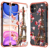 TUFF Klarity Lux Diamond Transparent TPU Case for iPhone 11 - Eiffel Tower
