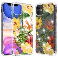 TUFF Klarity Lux Diamond Transparent TPU Case for iPhone 11 - Hibiscus