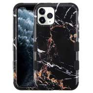 Military Grade Certified TUFF Hybrid Armor Case for iPhone 11 Pro - Marble Black