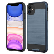 Brushed Coated Hybrid Armor Case for iPhone 11 - Ink Blue