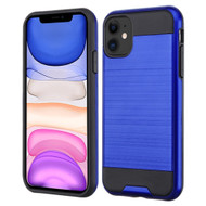Brushed Coated Hybrid Armor Case for iPhone 11 - Blue
