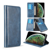 2-IN-1 Luxury Magnetic Leather Wallet Case for iPhone 11 - Blue