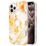 *Sale* TUFF Subs Hybrid Armor Case for iPhone 11 Pro Max - Marble Orange Grey