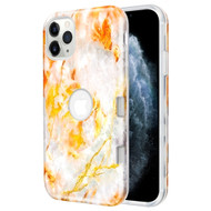 *Sale* TUFF Subs Hybrid Armor Case for iPhone 11 Pro - Marble Orange Grey