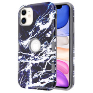 *Sale* TUFF Subs Hybrid Armor Case for iPhone 11 - Marble Dark Blue White