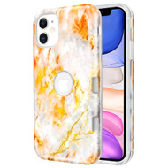 *Sale* TUFF Subs Hybrid Armor Case for iPhone 11 - Marble Orange Grey