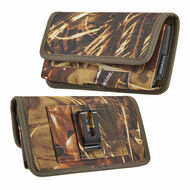 Ballistic Nylon Horizontal Hip Pouch Phone Case - Camouflage