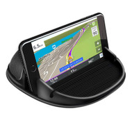 Multi-function Anti-slip Silicone Dashboard Phone Holder - Black