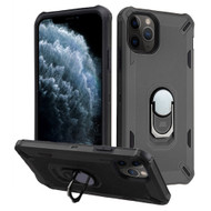 *Sale* Military Grade Certified Brigade Hybrid Armor Case with Metal Ring Finger Loop Stand for iPhone 11 Pro - Black