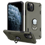 *Sale* Military Grade Certified Brigade Hybrid Armor Case with Metal Ring Finger Loop Stand for iPhone 11 Pro - Dark Grey