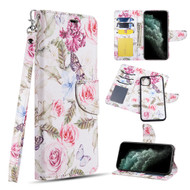 Trendy Series Leather Wallet with Detachable Magnetic Case for iPhone 11 Pro - Rosy Aroma