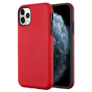 Carbon Fiber Hybrid Case for iPhone 11 Pro - Red