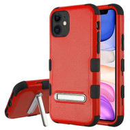 Military Grade Certified TUFF Hybrid Armor Case with Kickstand for iPhone 11 - Red