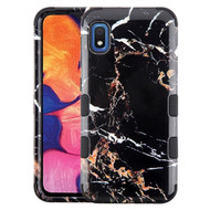 Military Grade Certified TUFF Hybrid Armor Case for Samsung Galaxy A10e - Marble Black
