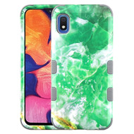 Military Grade Certified TUFF Hybrid Armor Case for Samsung Galaxy A10e - Marble Green