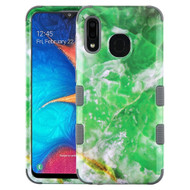 Military Grade Certified TUFF Hybrid Armor Case for Samsung Galaxy A20 - Marble Green
