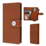 *Sale* 2-IN-1 Premium Leather Wallet with Removable Magnetic Case for iPhone 11 Pro - Brown