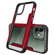 Transparent Shield Hybrid Armor Case for iPhone 11 - Red