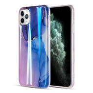 Vogue Collection Holographic Printing TPU Case for iPhone 11 Pro - Blue Moonlight