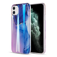 Vogue Collection Holographic Printing TPU Case for iPhone 11 - Blue Moonlight