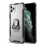 ShieldTech Transparent Case with 360° Rotating Ring Holder for iPhone 11 Pro Max - Black