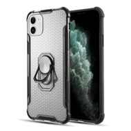 ShieldTech Transparent Case with 360° Rotating Ring Holder for iPhone 11 - Black
