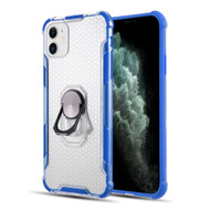 ShieldTech Transparent Case with 360° Rotating Ring Holder for iPhone 11 - Blue