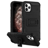 Military Grade Certified Storm Tank Hybrid Armor Case with Stand for iPhone 11 Pro Max - Black