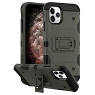 Military Grade Certified Storm Tank Hybrid Armor Case with Stand for iPhone 11 Pro Max - Dark Grey