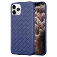 *Sale* Woven Designer Ultra Soft TPU Case for iPhone 11 Pro Max - Navy Blue