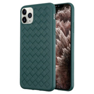 *Sale* Woven Designer Ultra Soft TPU Case for iPhone 11 Pro Max - Midnight Green