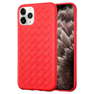 *Sale* Woven Designer Ultra Soft TPU Case for iPhone 11 Pro Max - Red