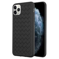 *Sale* Woven Designer Ultra Soft TPU Case for iPhone 11 Pro - Black