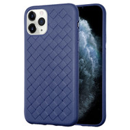 *Sale* Woven Designer Ultra Soft TPU Case for iPhone 11 Pro - Navy Blue