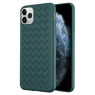 *Sale* Woven Designer Ultra Soft TPU Case for iPhone 11 Pro - Midnight Green